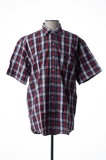 Chemise manches courtes rouge ARMORIAL pour homme