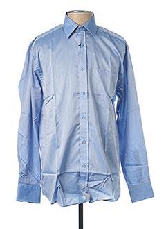 Chemise manches longues bleu ARMORIAL pour homme