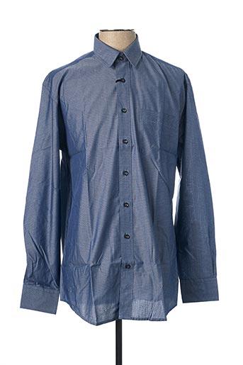 Chemise manches longues bleu BRIGGS & MANSFIELD pour homme