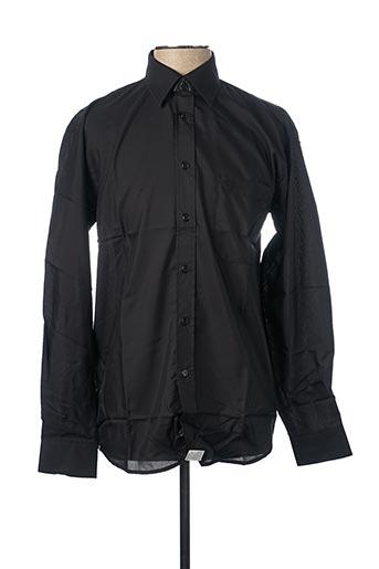 Chemise manches longues noir ARMORIAL pour homme