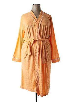 Peignoir orange HAJO pour femme