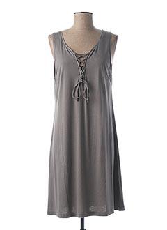 Robe mi-longue gris CANAT pour femme