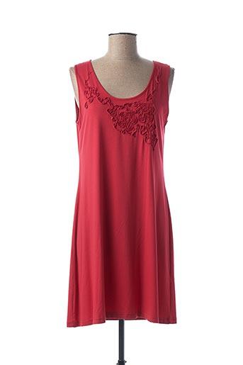 Chemise de nuit rouge CANAT pour femme