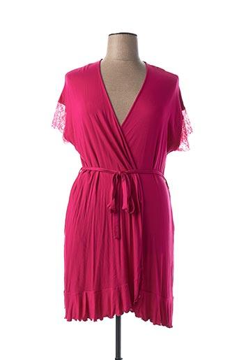 Robe de chambre rose TECCIA pour femme