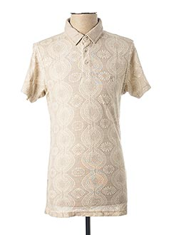 Polo manches courtes beige PEARLY KING pour homme