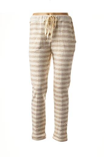 Pantalon casual beige CHARMANTE pour femme