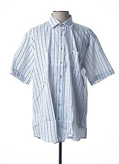 Chemise manches courtes bleu BEN GREEN pour homme
