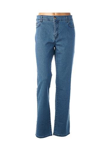 Jeans coupe droite bleu CRN-F3 pour femme