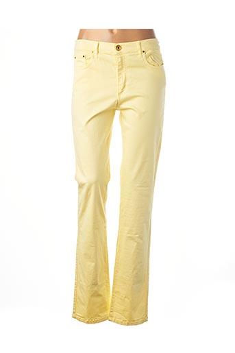Pantalon casual jaune CRN-F3 pour femme