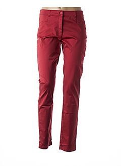 Pantalon casual rouge AVENTURES DES TOILES pour femme