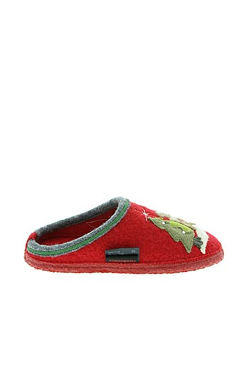 Chaussons/Pantoufles rouge GIESSWEIN pour femme