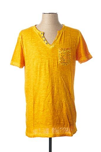 T-shirt manches courtes jaune INDIVIDUAL pour homme