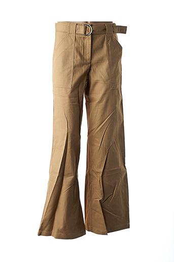 Pantalon casual beige DESIGUAL pour femme