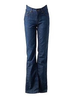 Jeans coupe droite bleu SCHOOL RAG pour femme