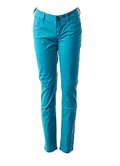 Pantalon casual bleu TEDDY SMITH pour femme