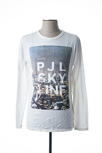 T-shirt manches longues blanc PEPE JEANS pour garçon