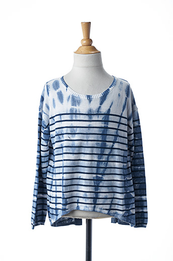 Pull tunique bleu PEPE JEANS pour fille
