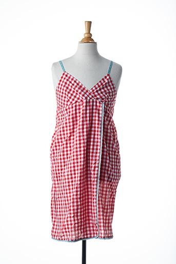 Robe mi-longue rouge LITTLE MARCEL pour fille