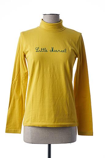 Sous-pull jaune LITTLE MARCEL pour fille