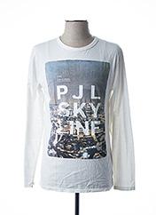 T-shirt manches longues blanc PEPE JEANS pour garçon seconde vue