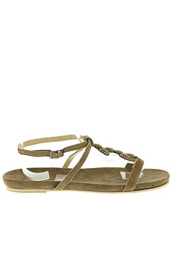 Sandales/Nu pieds marron AYAME pour femme