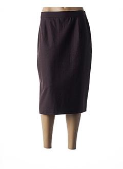 Jupe mi-longue marron CONSTANTIN pour femme