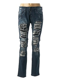 Jeans coupe slim bleu ONE TWO ONE TWO pour homme