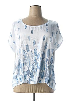 T-shirt manches courtes bleu ESPRIT DE LA MER pour femme