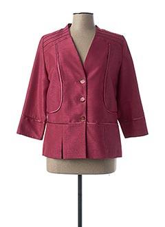 Veste chic / Blazer rouge FRANCE RIVOIRE pour femme