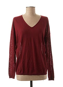 Pull col V rouge MARIE-SIXTINE pour femme