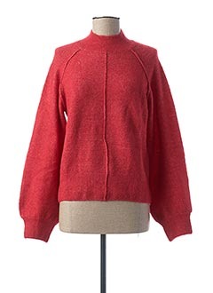 Pull col cheminée rouge PEPE JEANS pour femme