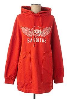 Sweat-shirt orange BANDITAS FROM MARSEILLE pour femme