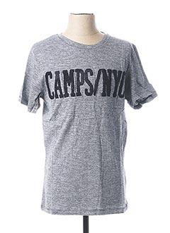 T-shirt manches courtes bleu CAMPS UNITED pour homme