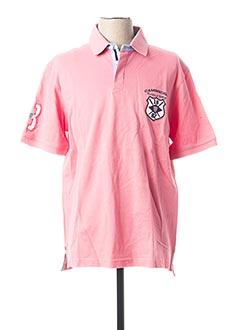 Polo manches courtes rose CAMBRIDGE pour homme