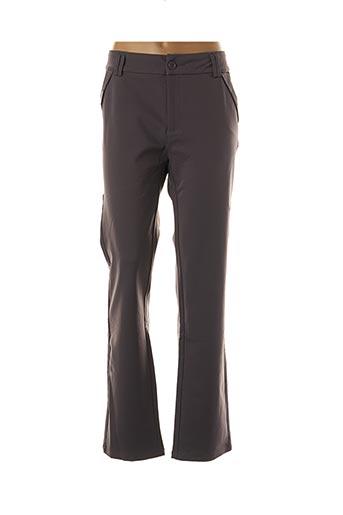 Pantalon chic gris FARFALLA ROSSO pour femme