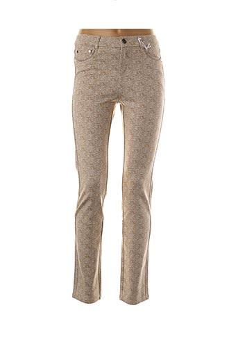Pantalon casual beige FARFALLA ROSSO pour femme