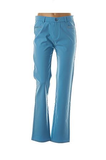 Pantalon casual bleu FARFALLA ROSSO pour femme