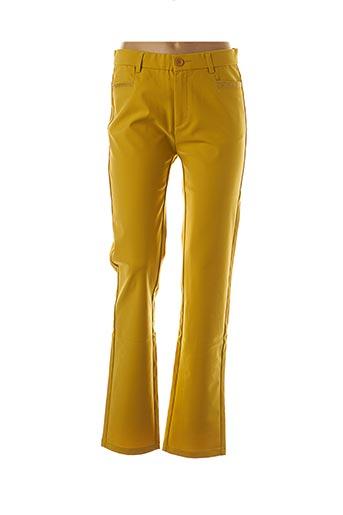 Pantalon casual jaune FARFALLA ROSSO pour femme