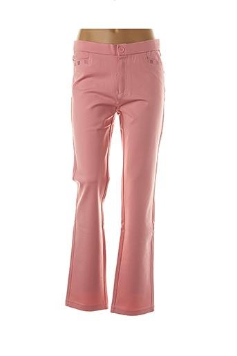 Pantalon casual rose FARFALLA ROSSO pour femme