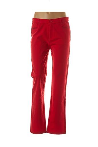 Pantalon casual rouge FARFALLA ROSSO pour femme