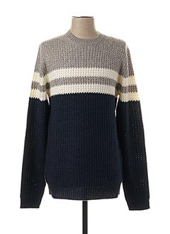Pull col rond bleu ONLY&SONS pour homme