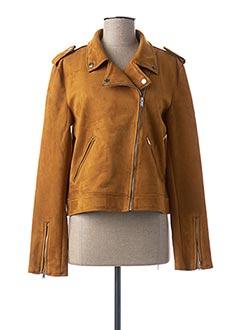 Veste simili cuir marron NA-KD pour femme