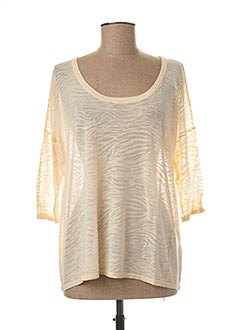 Pull col rond beige TEDDY SMITH pour femme