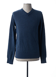 Pull col V bleu RITCHIE pour homme