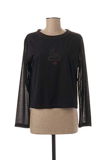 T-shirt manches longues noir ENJOY pour femme