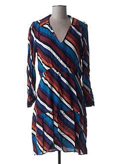 Robe mi-longue bleu ANGE pour femme