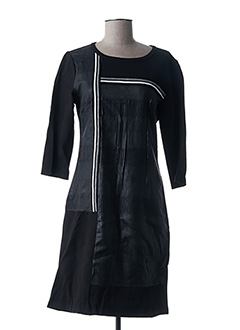 Robe mi-longue noir S.QUISE pour femme
