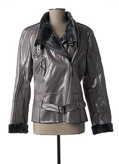 Manteau court gris EVA KAYAN pour femme