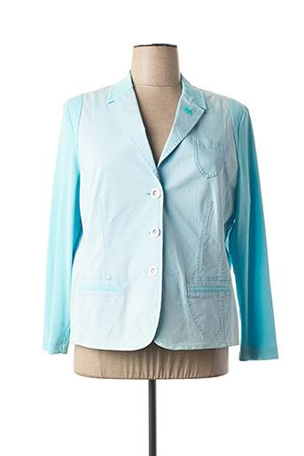 Veste chic / Blazer bleu LUCIA pour femme