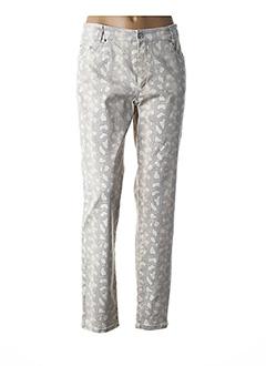 Pantalon chic beige ANNA MONTANA pour femme